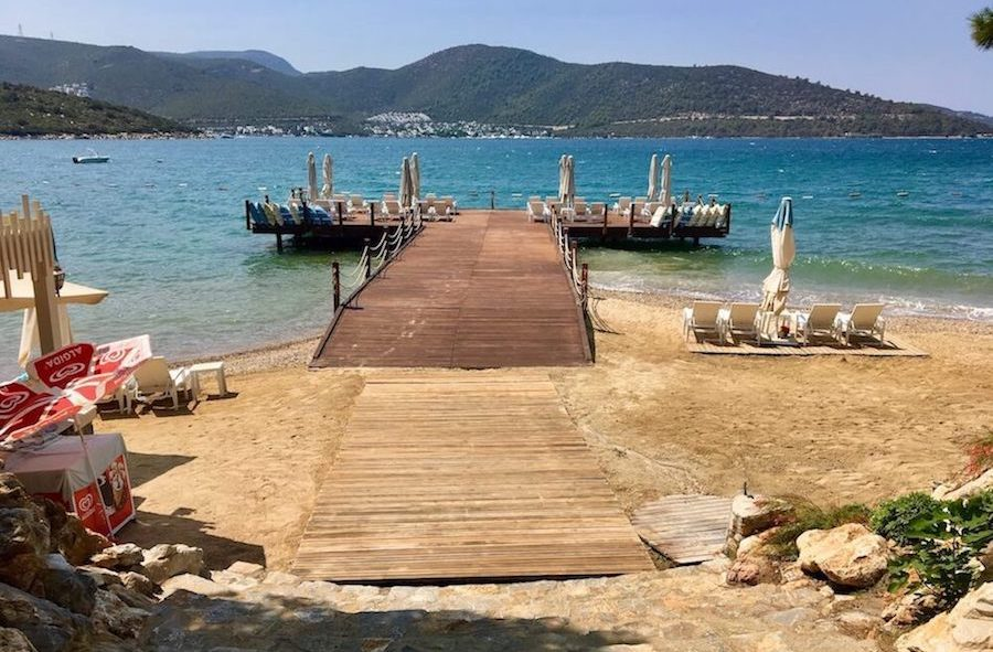 Private beach in Torba