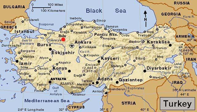 Image result for bolu ankara kırıkkale haritası