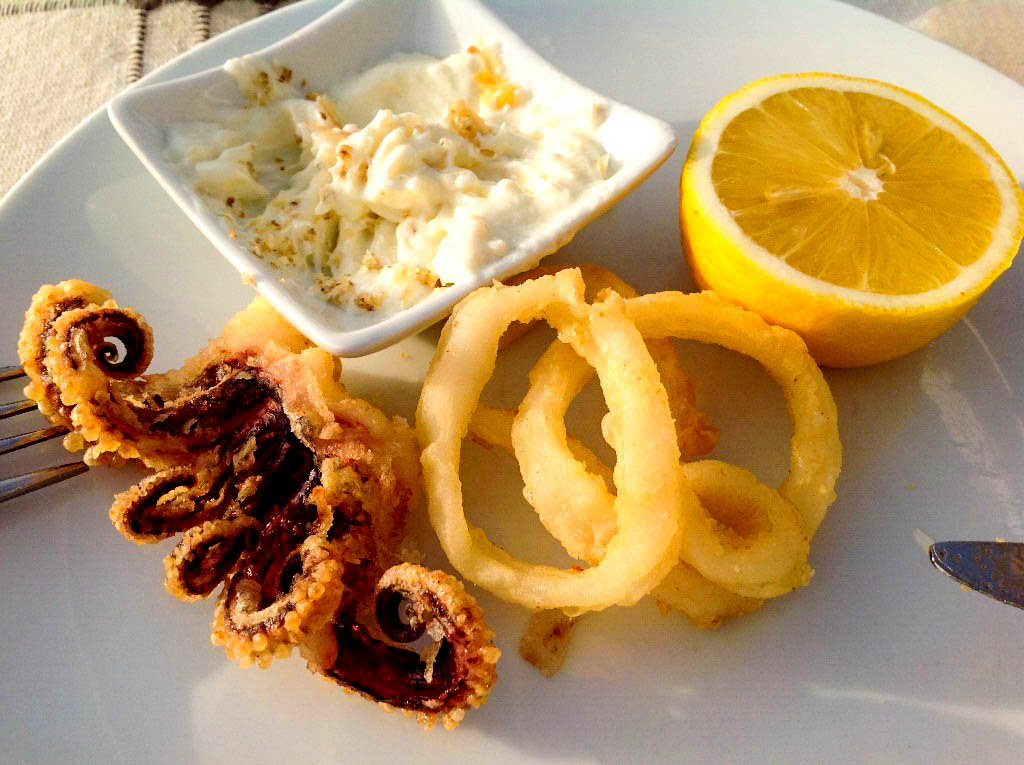 Calamari Turkish meze