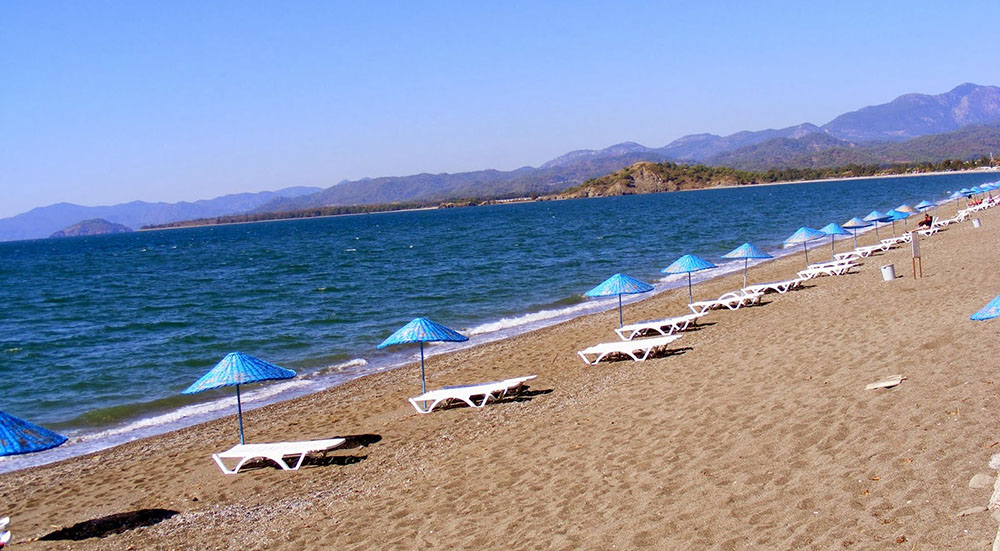 Beach in Calis
