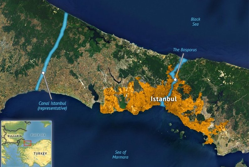 Canal Istanbul will be connecting the Sea of Marmara to the Black Sea