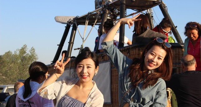 Chinese tourists in Turkey