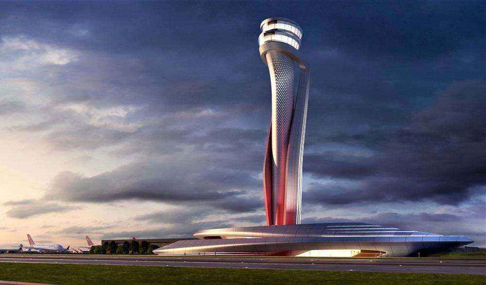 Диспетчерская башня в новом аэропорту Стамбула