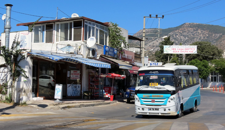 75 cents for a bus ride in Bodrum