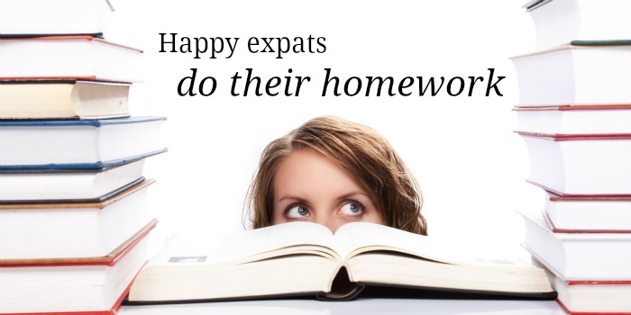 happy expats do their homework