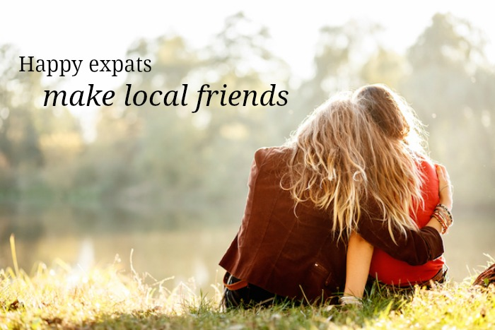 happy expats make local friends