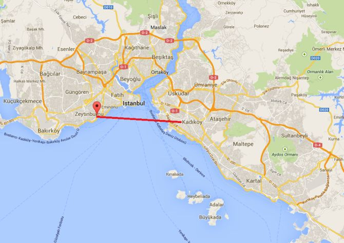 The Eurasia Tunnel is the first ever road tunnel beneath the Bosphorus Strait