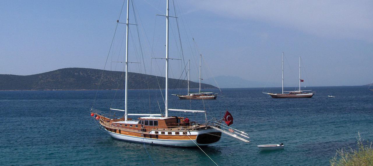 Gulet boat in Bodrum