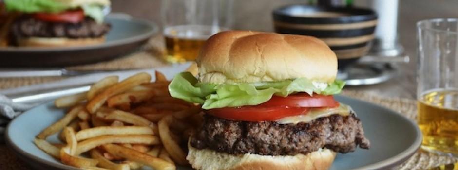 comfort food: hamburger and fries