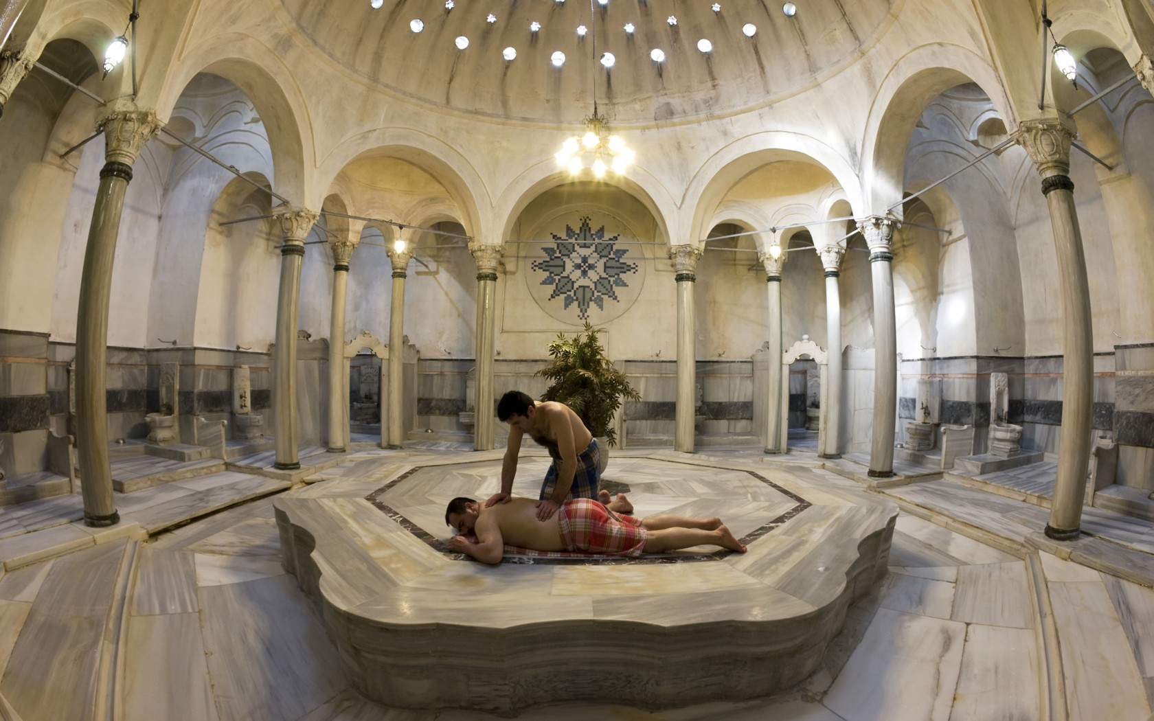 A popular hamam in Istanbul. The perfect relaxing experience for those cold winter days.