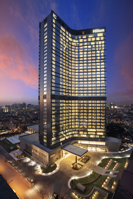 The Hilton Hotel in the heart of the regenerated Bomonti area of Istanbul