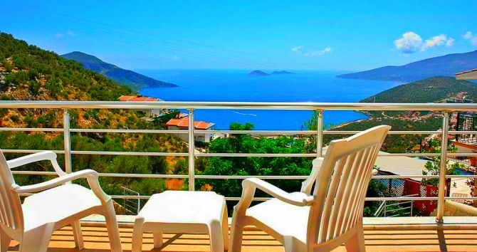 Kalkan villa with sea views