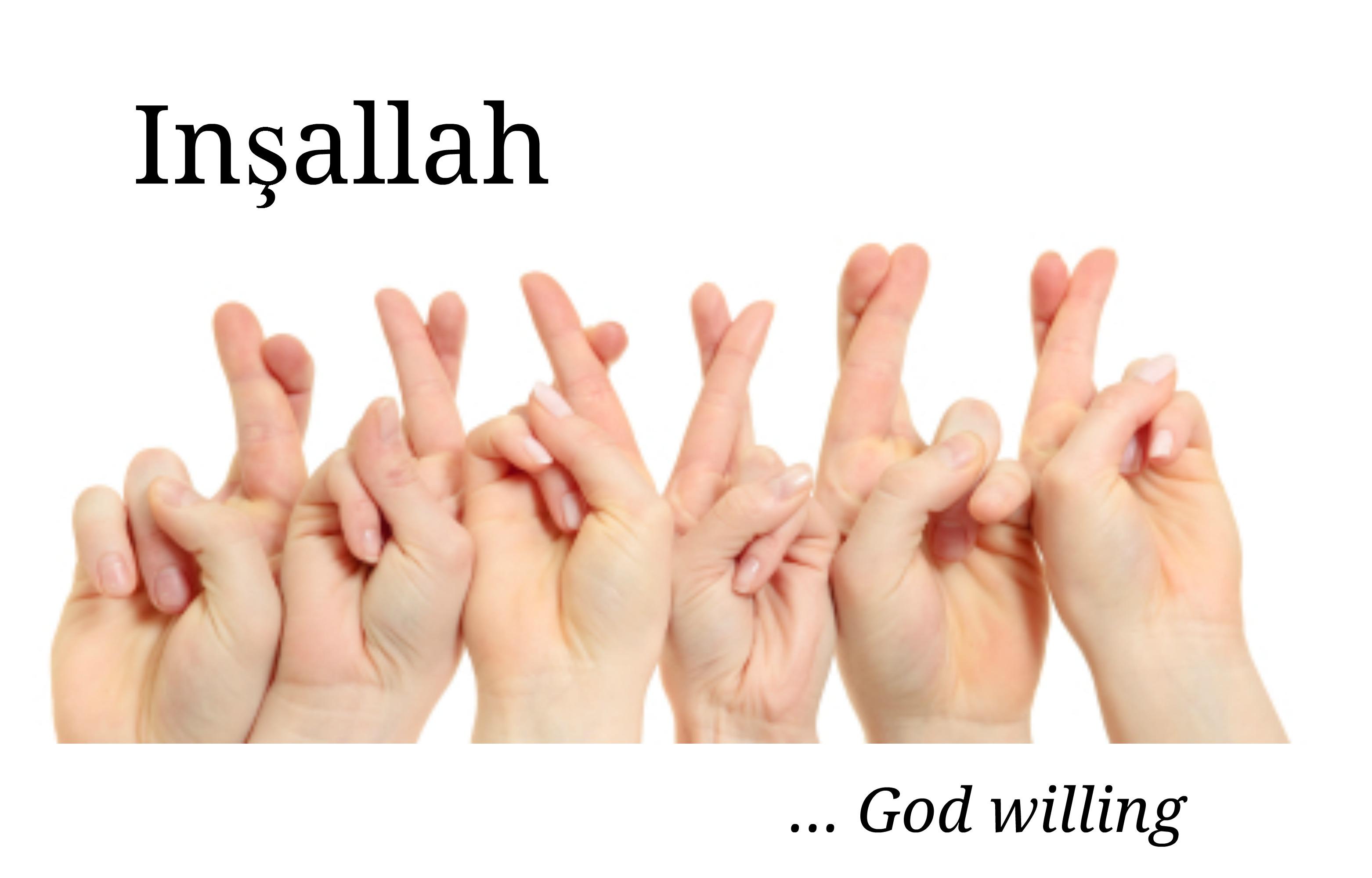 Insallah, Turkish language
