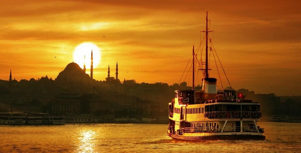 伊斯坦布尔的夕阳