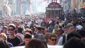 crowds in Istanbul