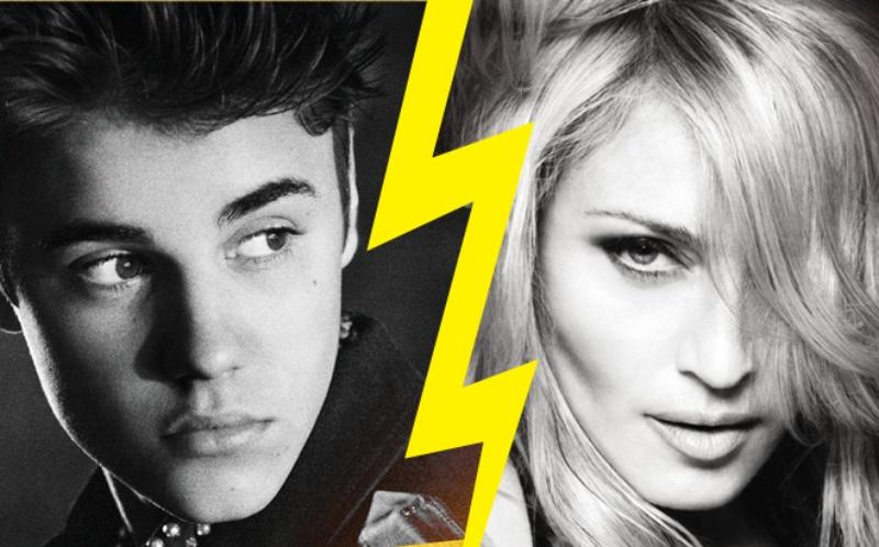 Justin Bieber and Madonna