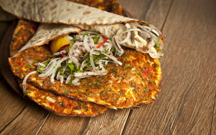 Lahmacun Turkish food