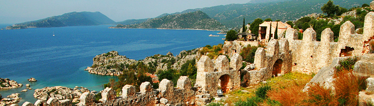 Stunning view from the Lycian Way walk