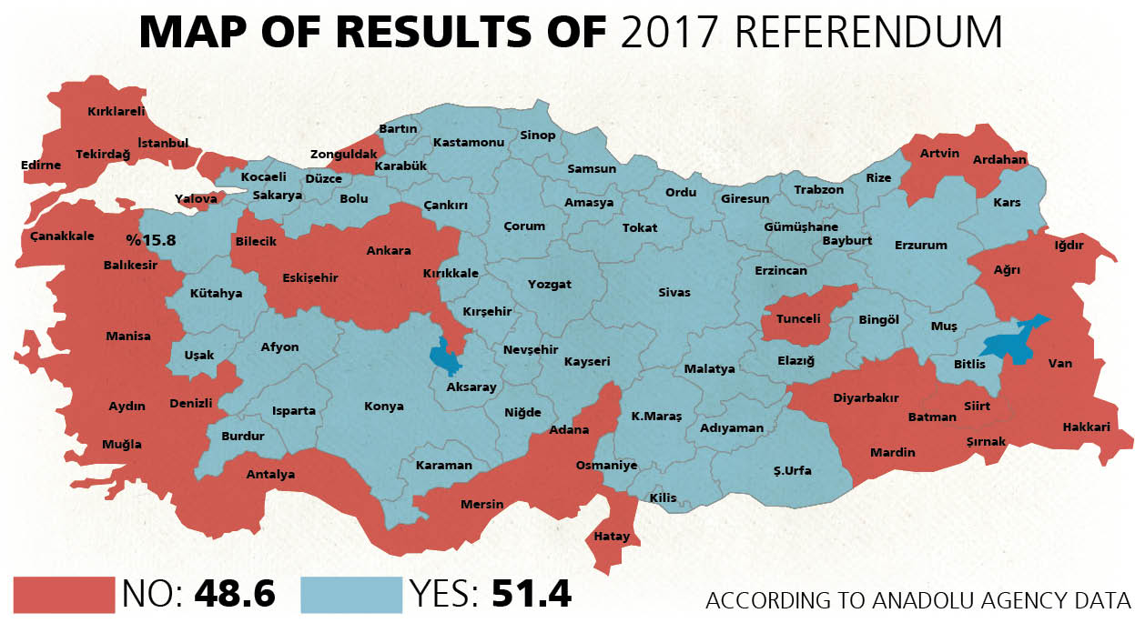 Turkish referendum results map