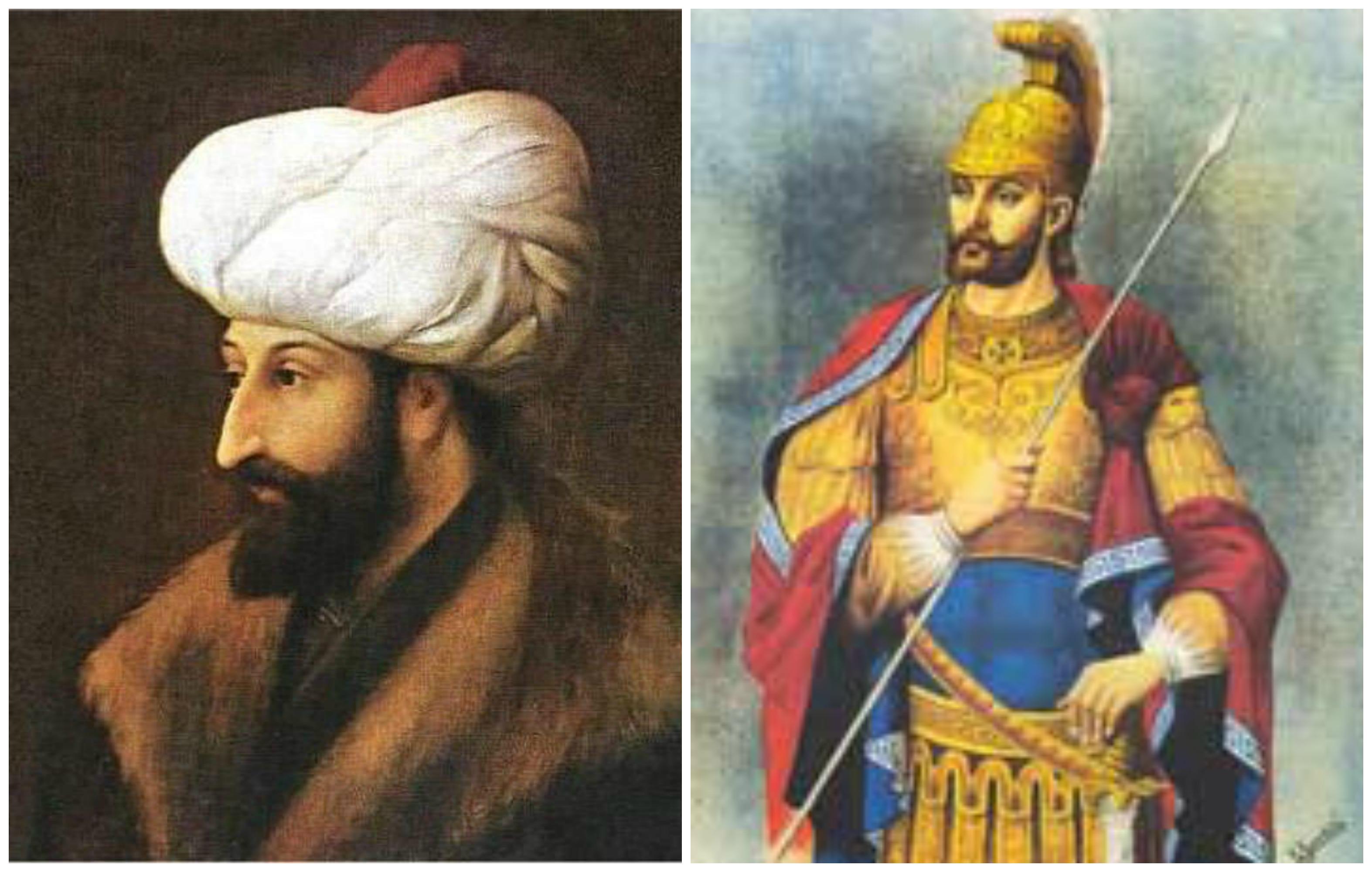 Sultan Mehmet II and Emperor Constantine