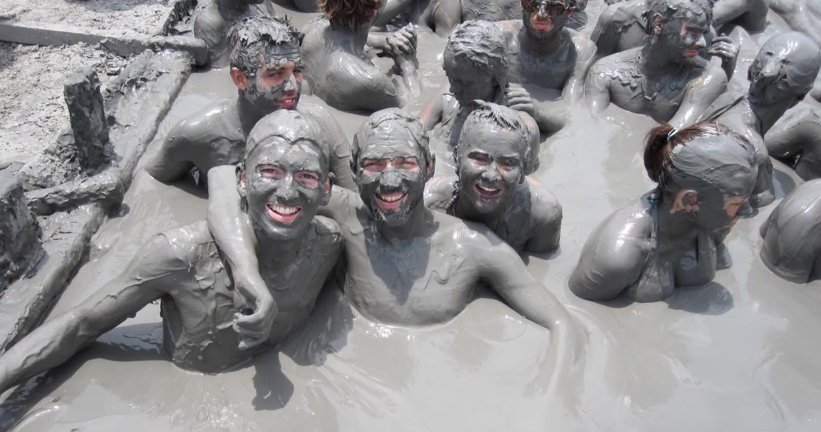 Mud bath in Turkey