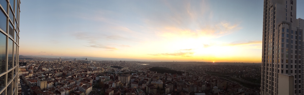 View from our Istanbul office
