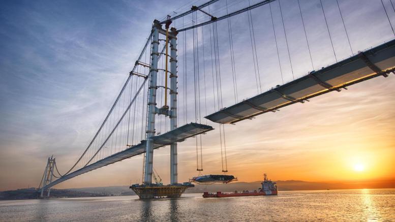 The Osman Gazi bridge is the fourth longest suspension bridge on the planet