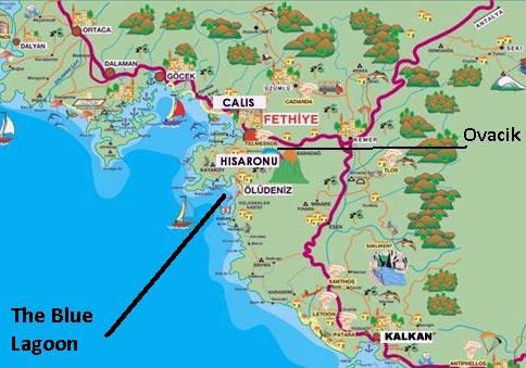 Ovacik Map