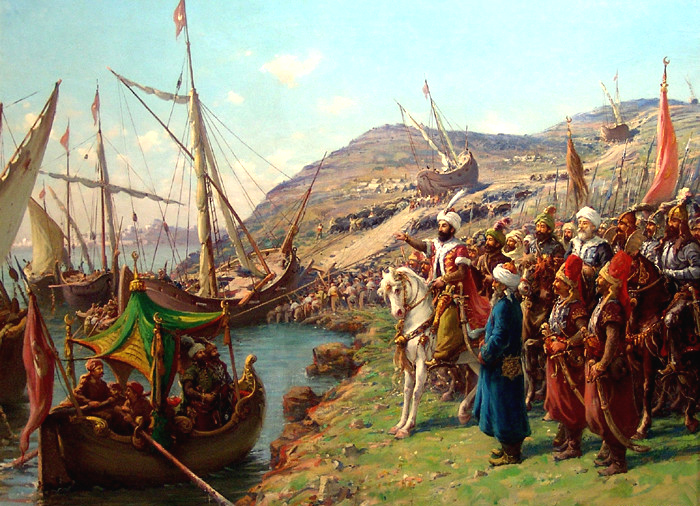 Mehmet orders his ships overland