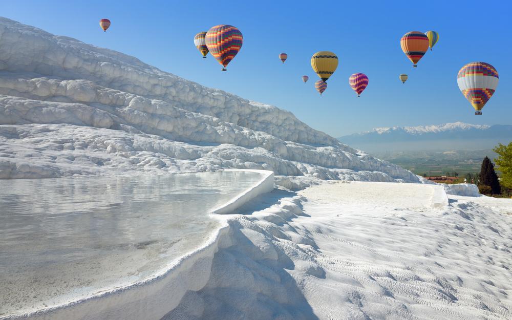 土耳其的棉花堡