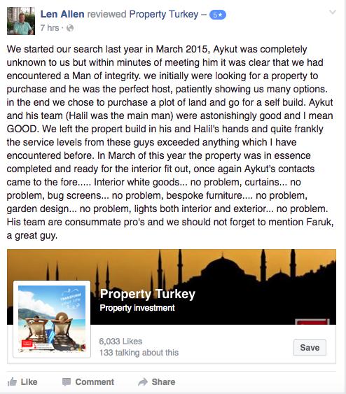 Len Allen Property Turkey testimonial review