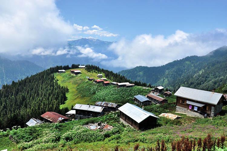 Remote village Black Sea Rize region