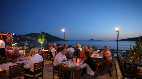 Rooftop dining in Kalkan