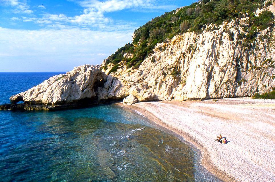 A secluded beach in Samos, Greece.