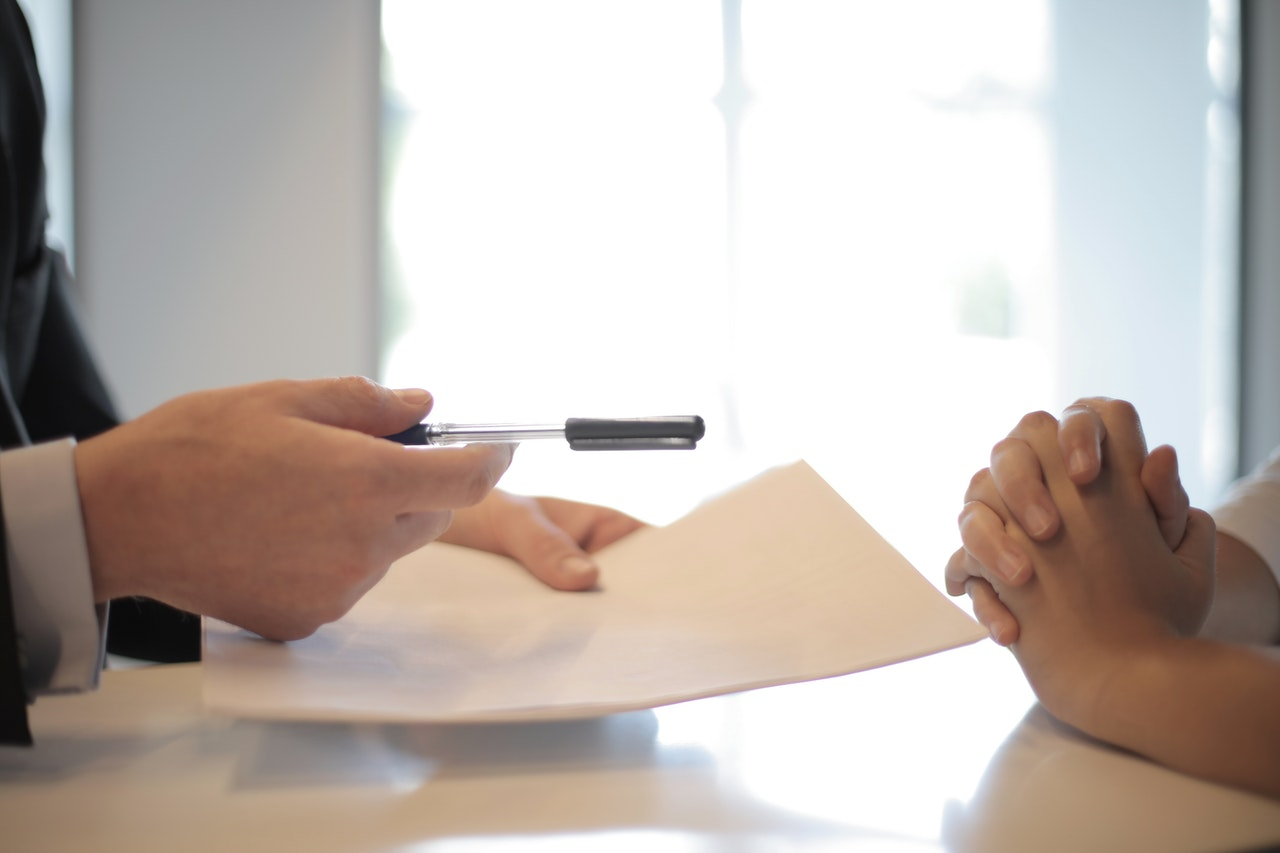 Signing a mortgage
