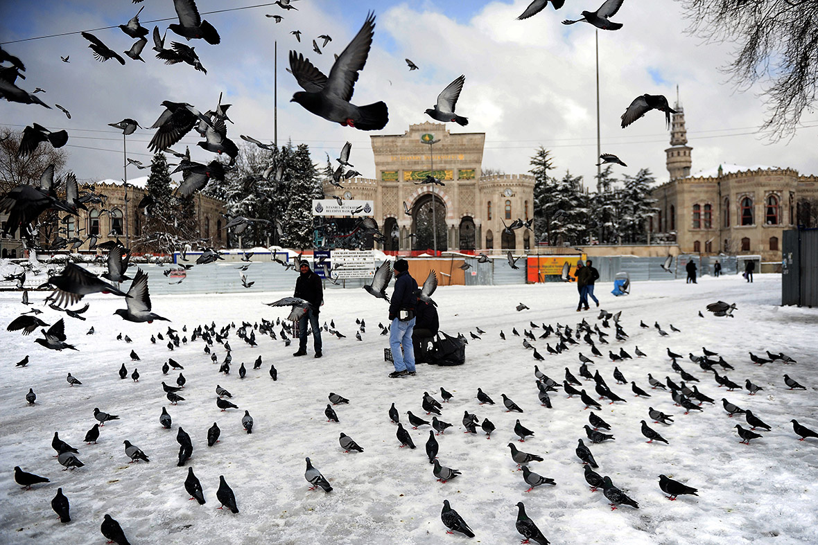 Istanbul in the snow