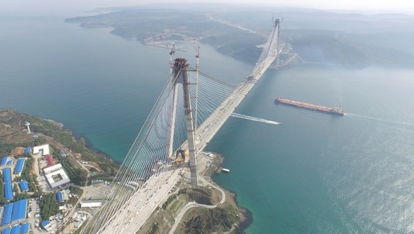 The Sultan Selim bridge, the third bridge to link Istanbul's Asian and European sides
