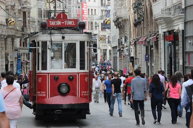 Tourists in Taksim