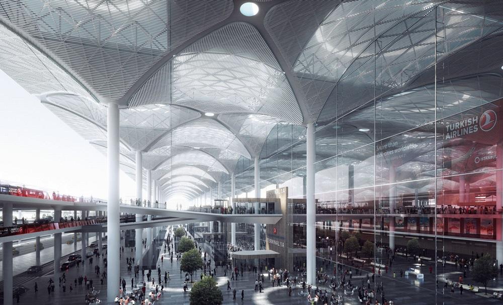 Главный терминал нового аэропорта в Стамбуле