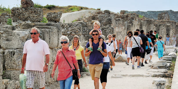 Russian tourists up 14 percent.