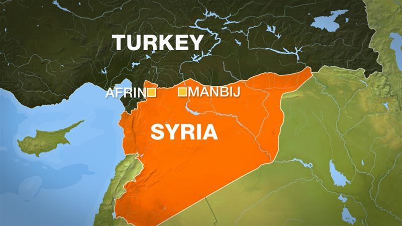土耳其和叙利亚地图
