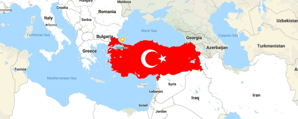 Turkey map location
