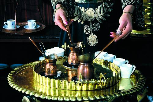 Turkish coffee tradition