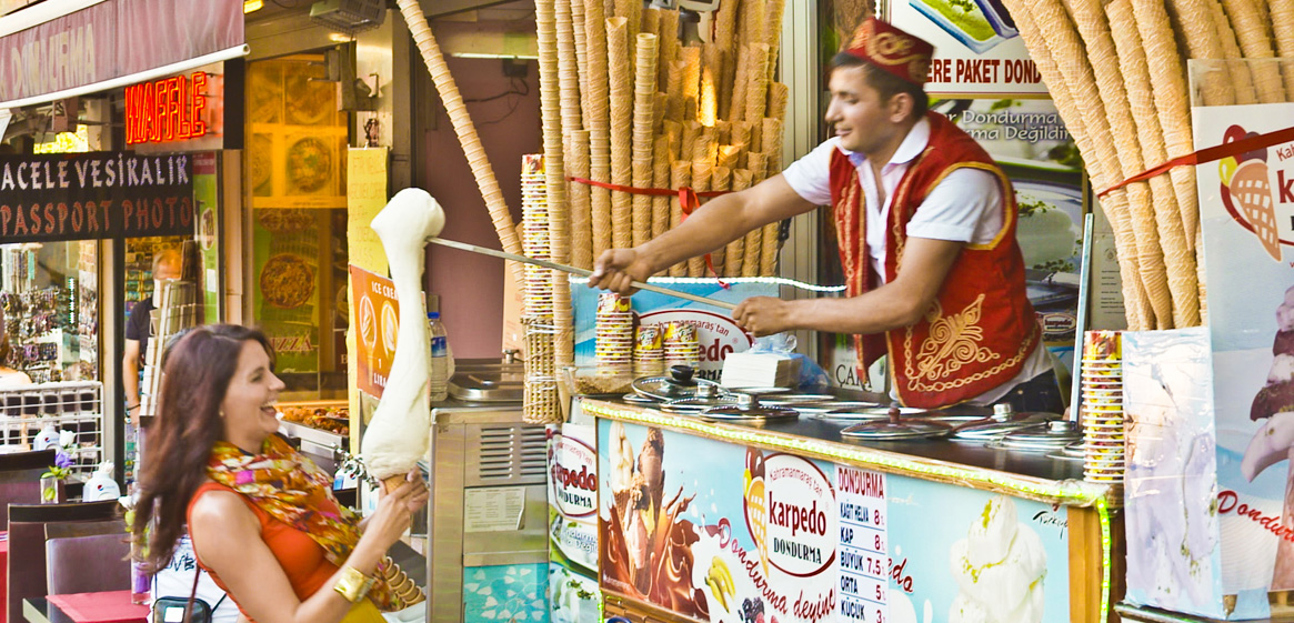 Turkish ice cream vendor