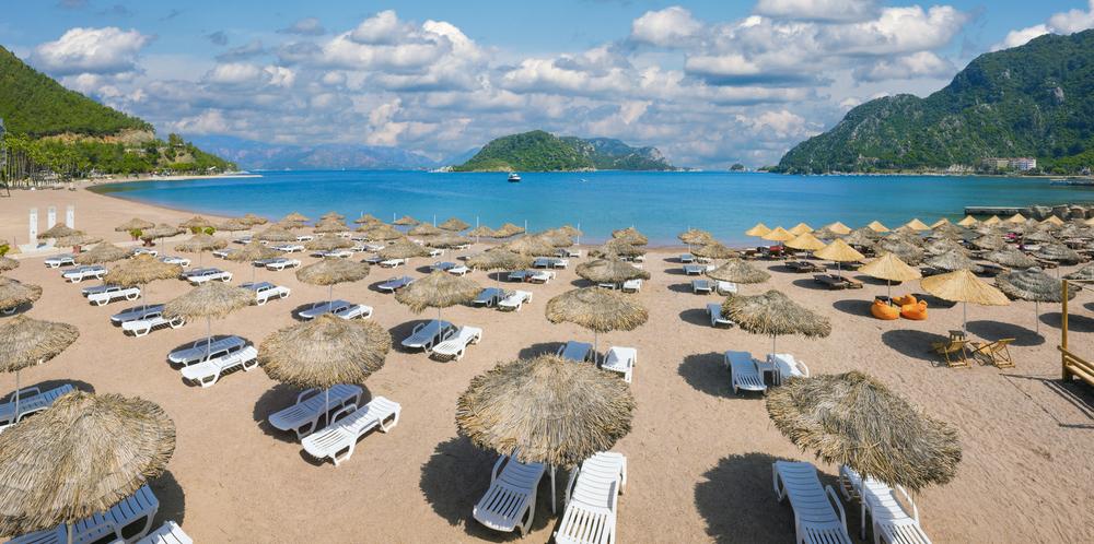 土耳其地中海的海滩