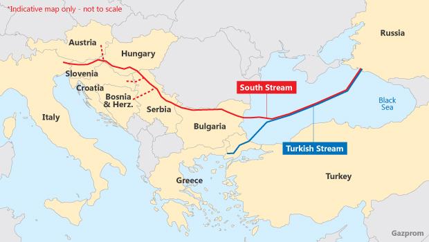 Turkish Stream map