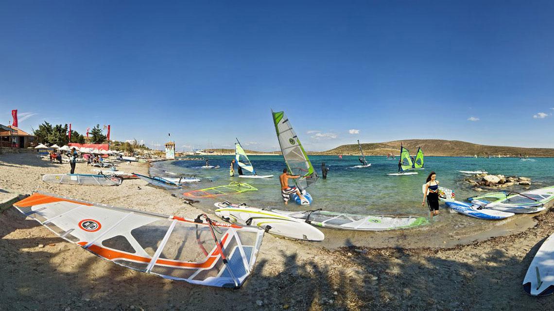 Windsurfing in Turkey
