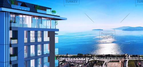 شقق للبيع في اسطنبول بمشروع سكني  ضخم وإطلالات بانورامية على البحر مباشرة - عقارات تركيا