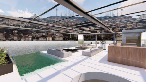 Contemporary Bosphorus front Villa with amazing view