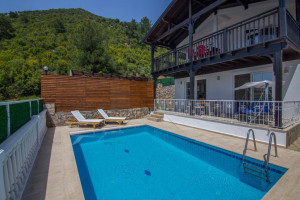 Mountain view villa in Uzumlu with pool